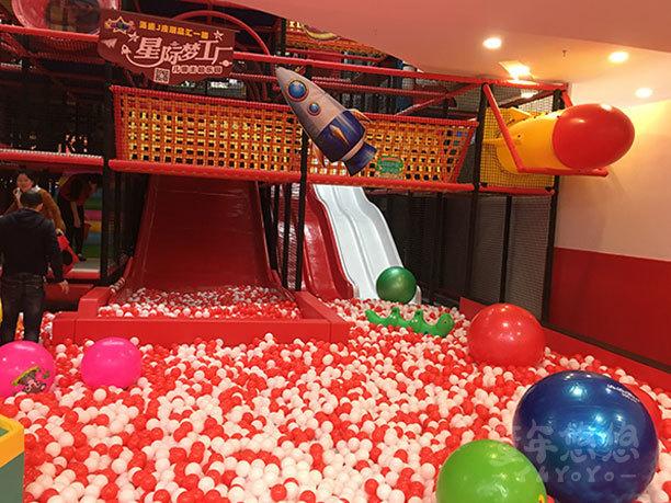 童年悠悠兒童主題樂園招商加盟案例百萬球池