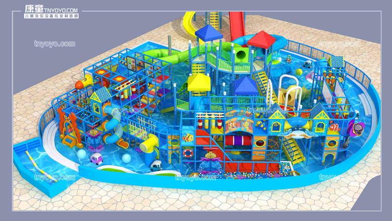 不規則場地,如何安裝淘氣堡兒童樂園?