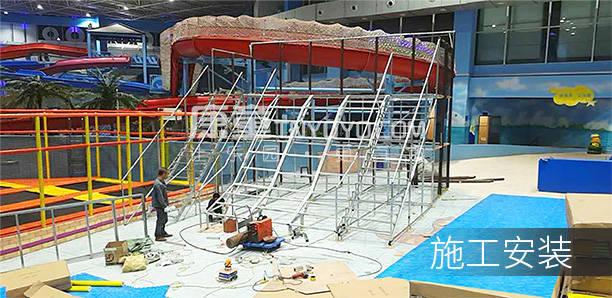 兒童主題樂園招商加盟案例:唐山勒泰童世界施工安裝
