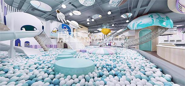 儿童主题乐园定制淘气堡案例米兜欢乐王国设计效果图