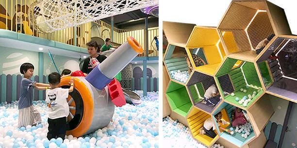 儿童主题乐园定制淘气堡案例米兜欢乐王国实景图