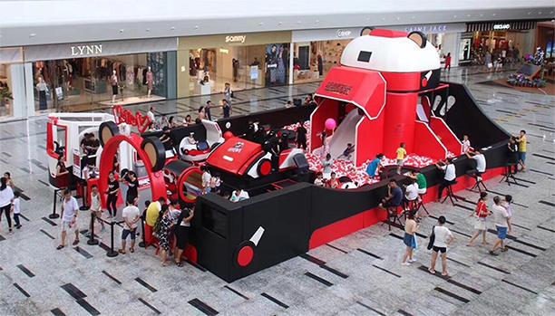 超级队长儿童乐园设计实景图