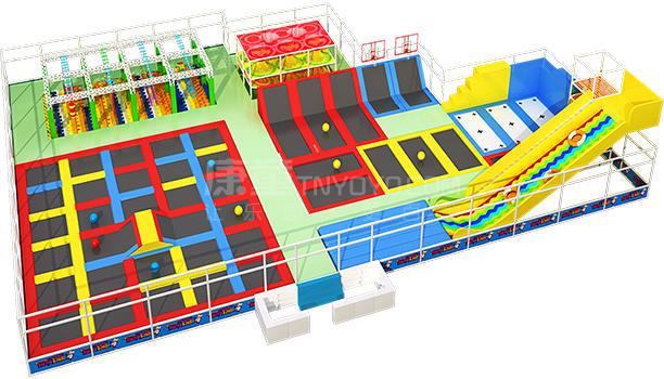 大型蹦床主题公园定制设计效果图