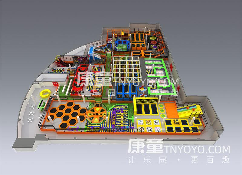 大型室內定制蹦床公園型號KT5010